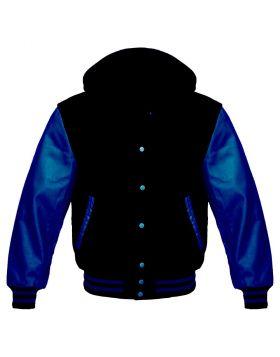 Black And Blue Varsity Hoodie