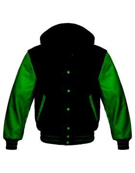 Black And Green Varsity Hoodie