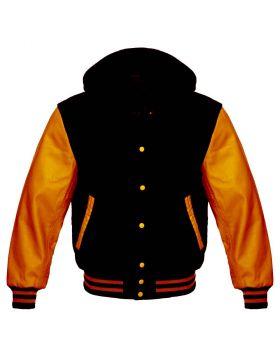 Black And Orange Varsity Hoodie