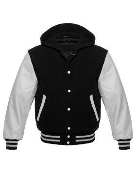 Black And White Hoodie Jacket