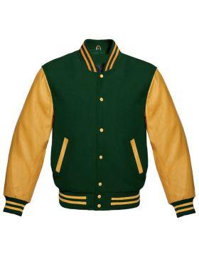 Varsity Jacket Womens Green And Yellow