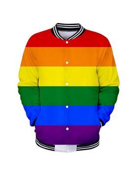 Rainbow Varsity Jacket