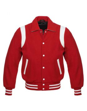 Retro Varsity Jacket Red