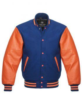 Royal Blue Letterman Jacket