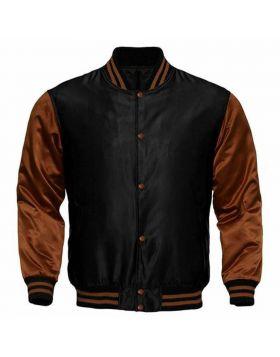Satin Varsity Jacket For Women