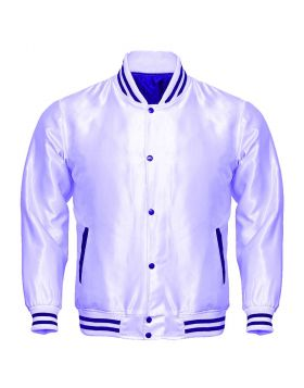 White Satin Jacket Mens