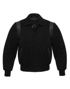 Women Black Retro Varsity Jacket