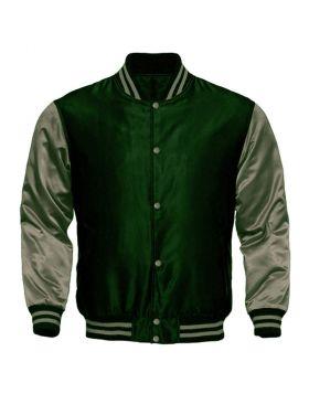 Women Custom Satin Varsity Jacket