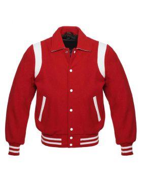 Women Red Retro Varsity Jacket