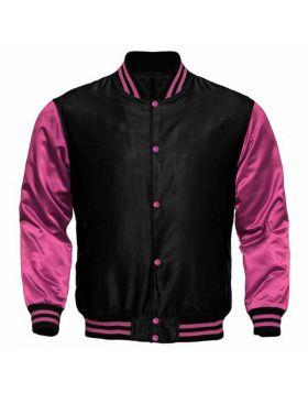 Women Satin Varsity Jacket