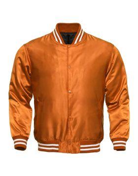 Women Vintage Satin Varsity Jacket