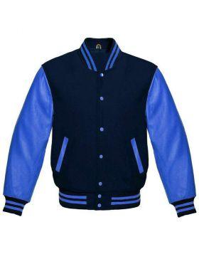 Womens Blue Varsity Jacket