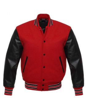 Womens Varsity Jacket Red