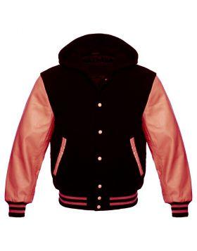 Black And Pink Varsity Hoodie