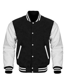 Black Varsity Jacket Mens