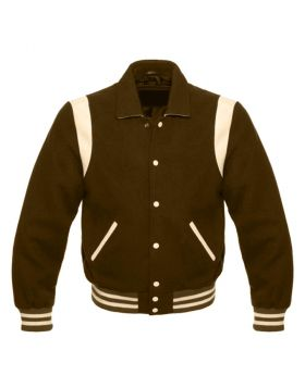 Brown Retro Varsity Jacket