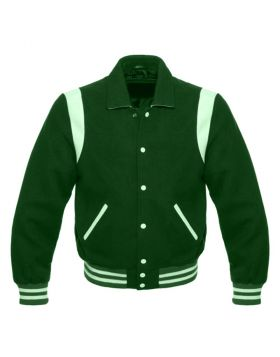 Kids Green Retro Varsity Jacket