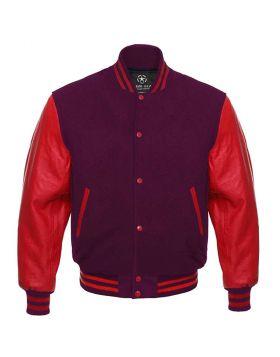 Maroon And Red Varsity Jacket