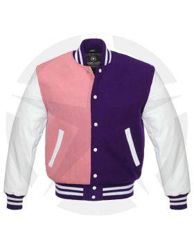 Purple And Pink Varsity Jacket