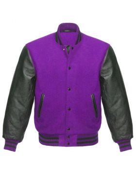 Purple Varsity Jacket Kids
