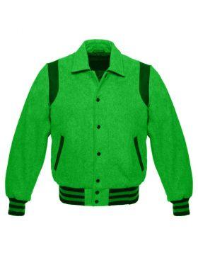 Retro Varsity Jacket Green