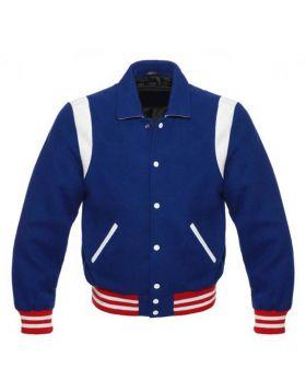 Retro Varsity Jacket Blue