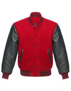 Women Red Varsity Jacket