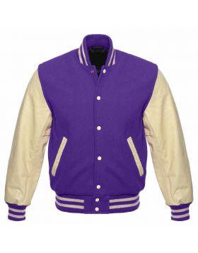 Purple Varsity Jacket Mens